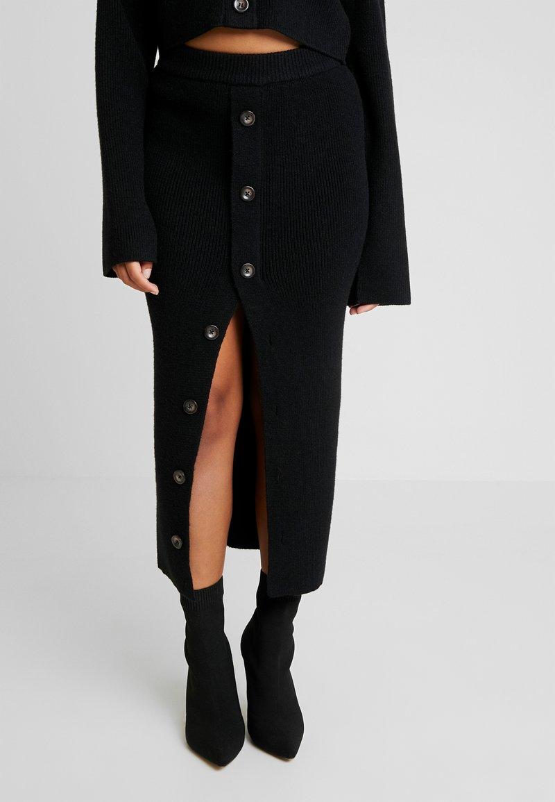 Fashion Union Petite - VALERINA SKIRT - Jupe longue - black