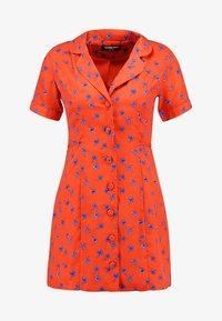 Fashion Union Petite - TANYA - Skjortekjole - tangerine dream - 3
