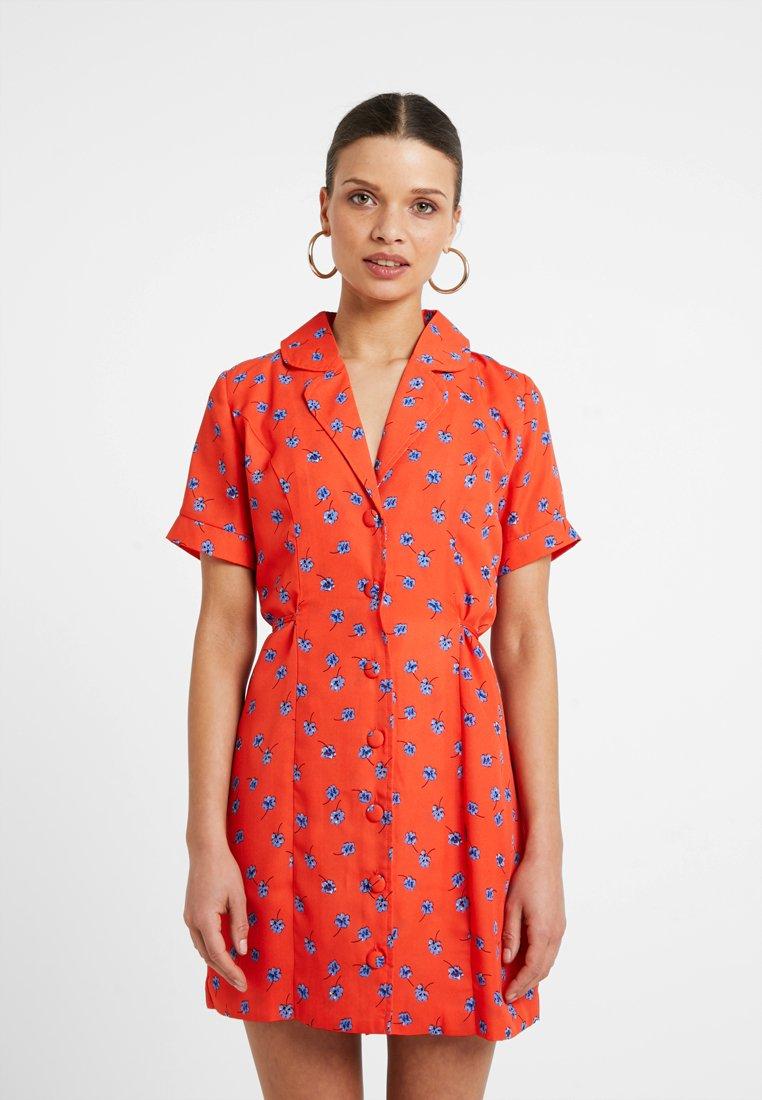 Fashion Union Petite - TANYA - Skjortekjole - tangerine dream