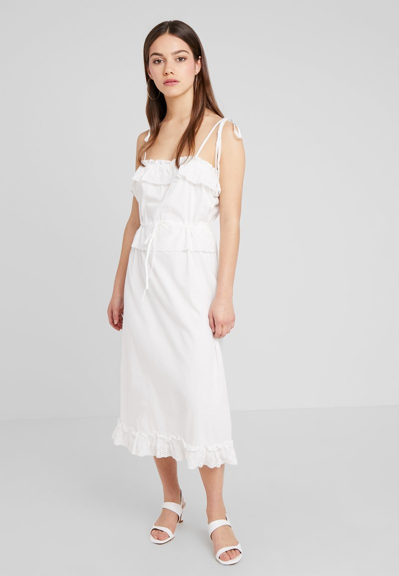 Fashion Union Petite - MIDI CAMI DRESS ANGLAISE - Maxi dress - ivory