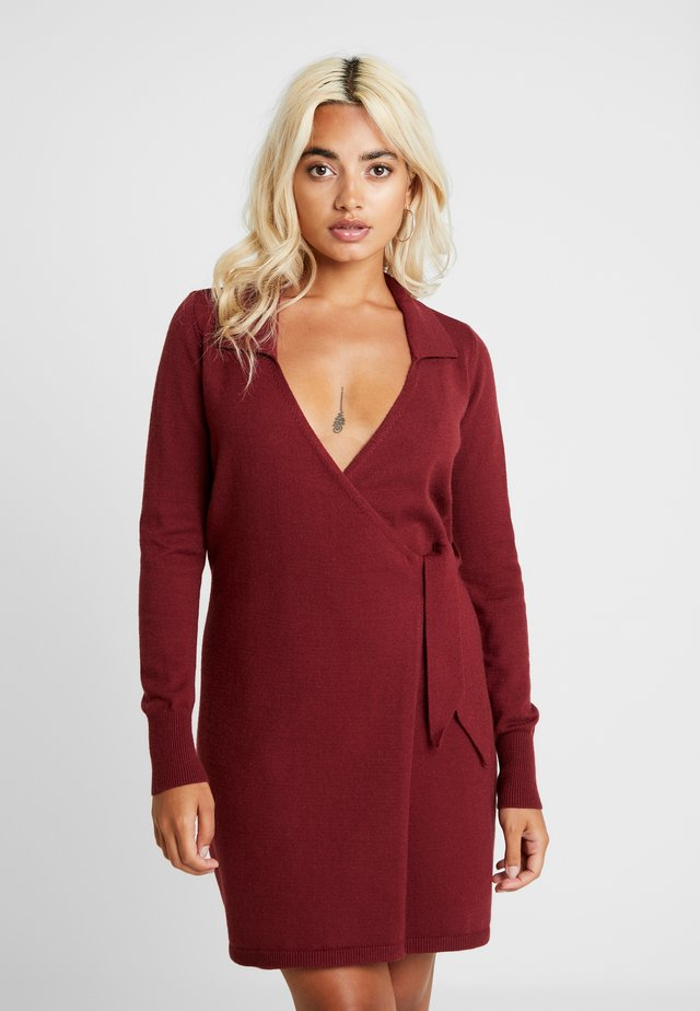 BANEBERRY - Jumper dress - burgundy