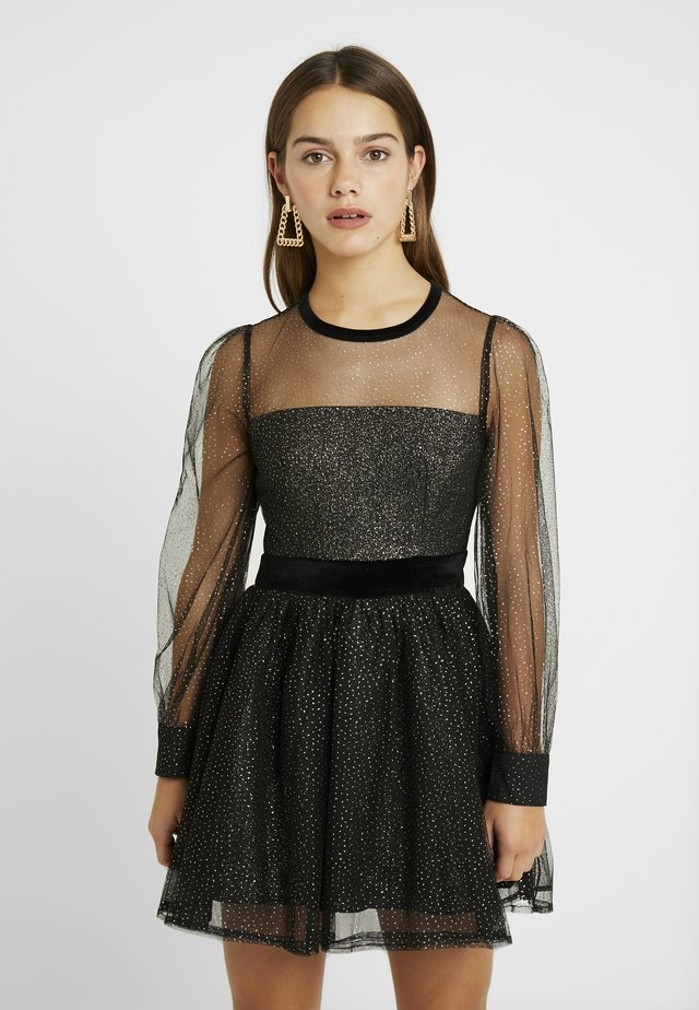 TOOTOO  MINI PROM DRESS WITH SLEEVES  - Juhlamekko - gold/black