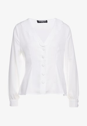BEN FASHION UNION FITTED  WITH SCALLOP COLLAR  - Chemisier - ivory