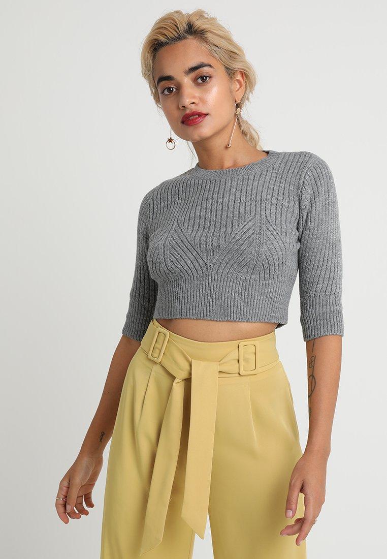 Fashion Union Petite - BANANA  - T-shirts print - grey