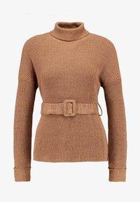 Fashion Union Petite - HOVEA - Sweter - chocolate - 4