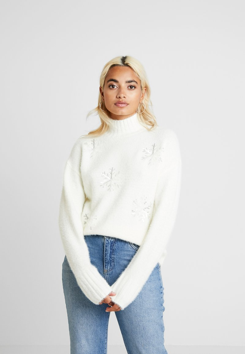 Fashion Union Petite - SNOWFLAKE - Jumper - cream
