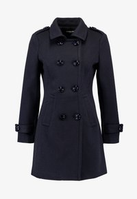 Fashion Union Petite - DOUBLE BREASTED PEA COAT - Kort kappa / rock - navy - 3