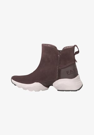 Sneaker high - dark mauve