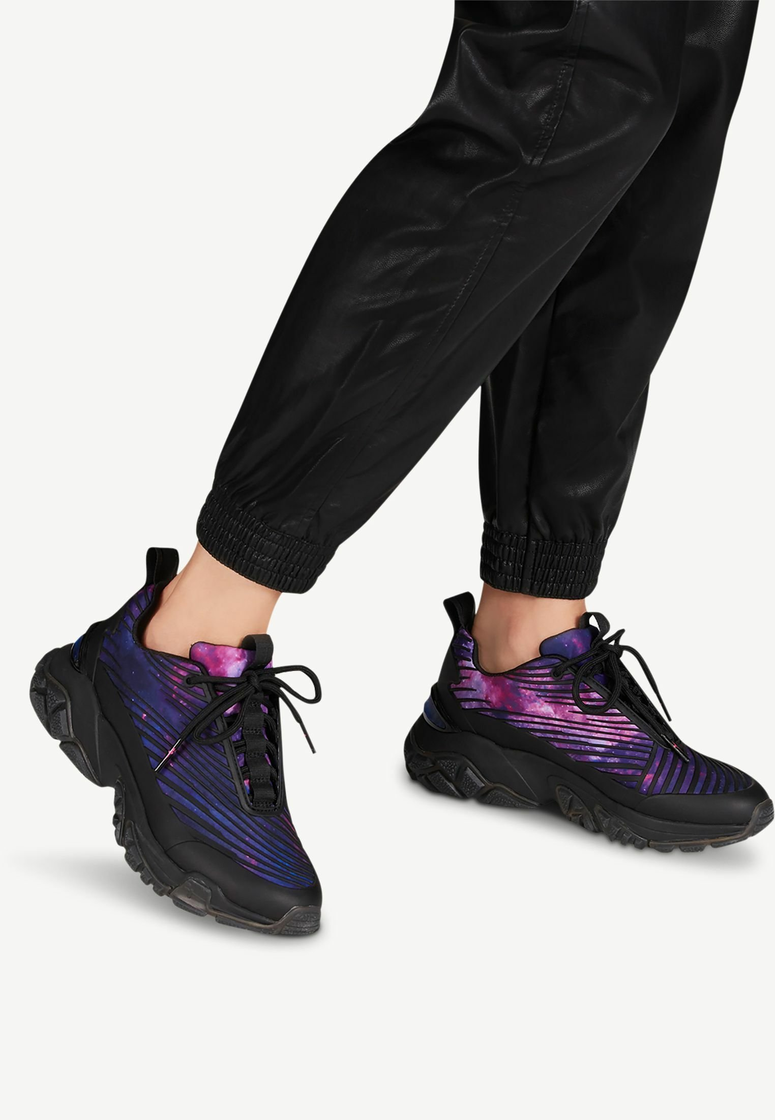 Gutes Angebot Tamaris Fashletics LACE UP - Sneaker low - black comb | Damenbekleidung 2020