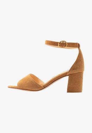 YASMINE - Sandals - cognac