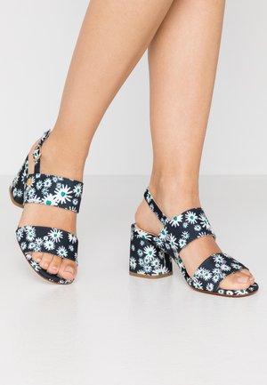 BELLE  - Sandals - black/bean green