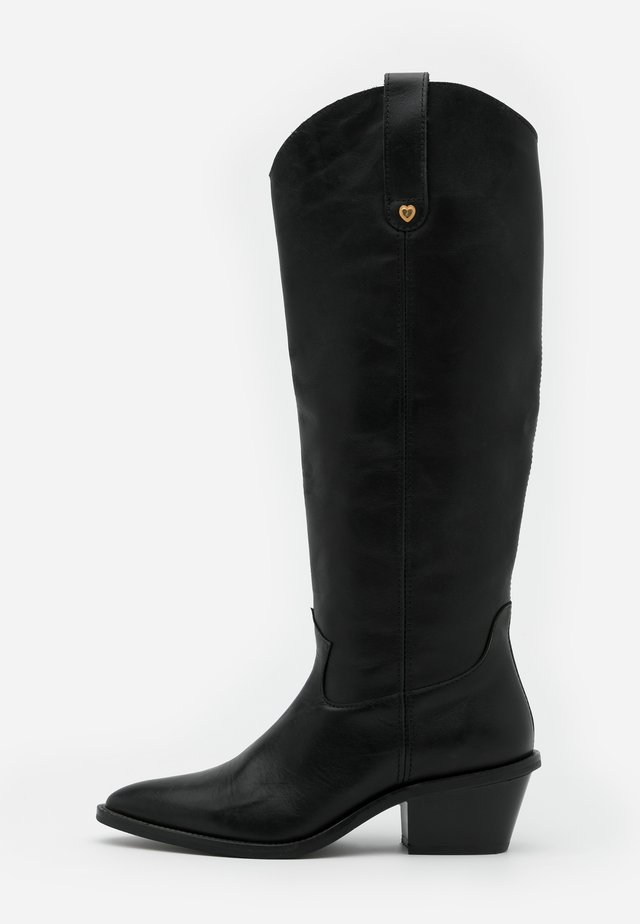 HOLLY KNEE HIGH  - Kovbojské/motorkářské boty - black