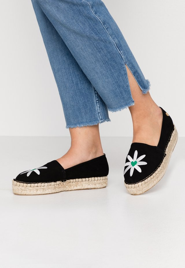 SUMMER - Espadrillot - black/bean green