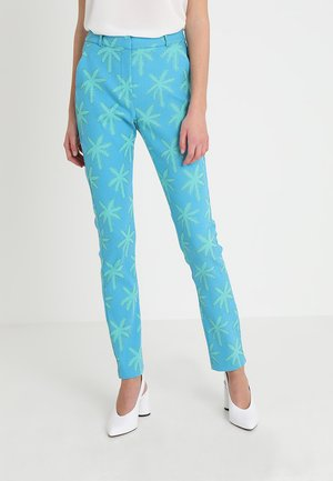 BABETH PALM TROUSER - Trousers - blue