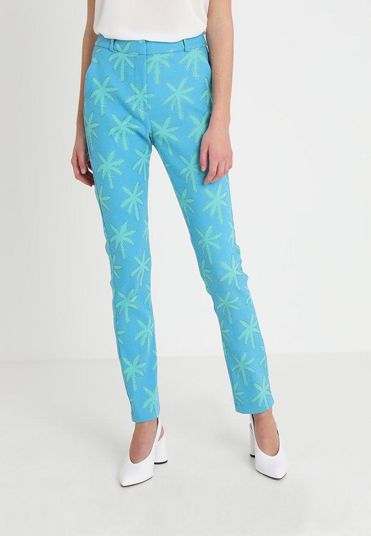 Fabienne Chapot - BABETH PALM TROUSER - Pantalon classique - oasis blue