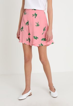 EYELAND SKIRT - Wikkelrok - geranium pink