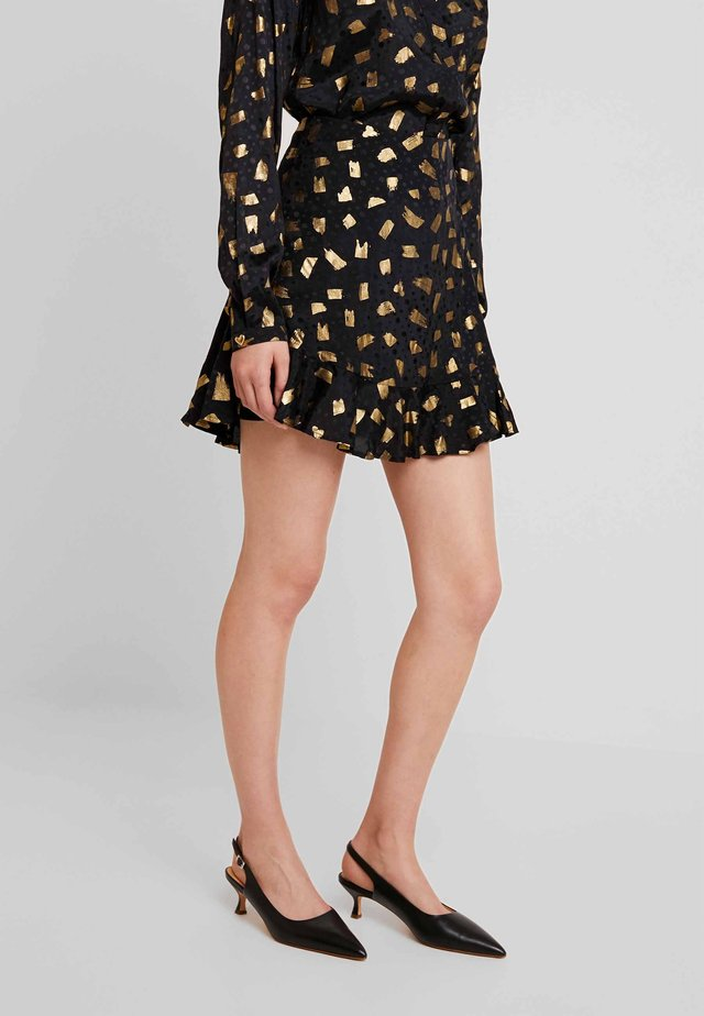 STARDUST SKIRT - A-Linien-Rock - black/gold