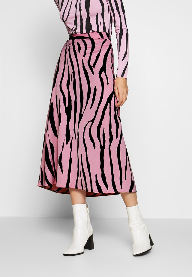 CLAIRE SKIRT - A-linjekjol - black/pink sky