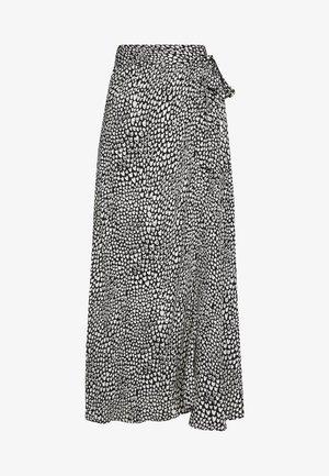 BOBO SKIRT - A-line skirt - black/offwhite