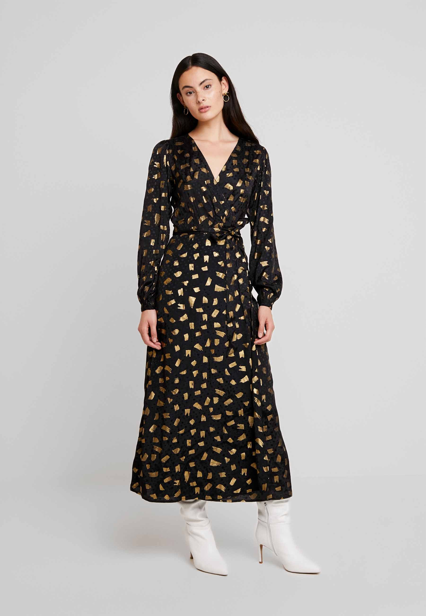 Fabienne Chapot NATASJA FOIL DRESS - Abito da sera black/gold