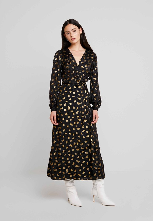 NATASJA FOIL DRESS - Iltapuku - black/gold