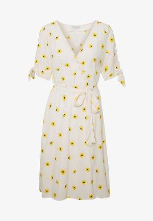 EMILY EMBRO DRESS - Day dress - white/yellow