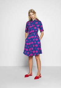 Fabienne Chapot - MILA DRESS - Shirt dress - blue/pink - 1