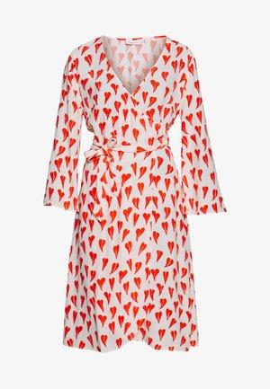 WINNI DRESS - Freizeitkleid - off-white/red