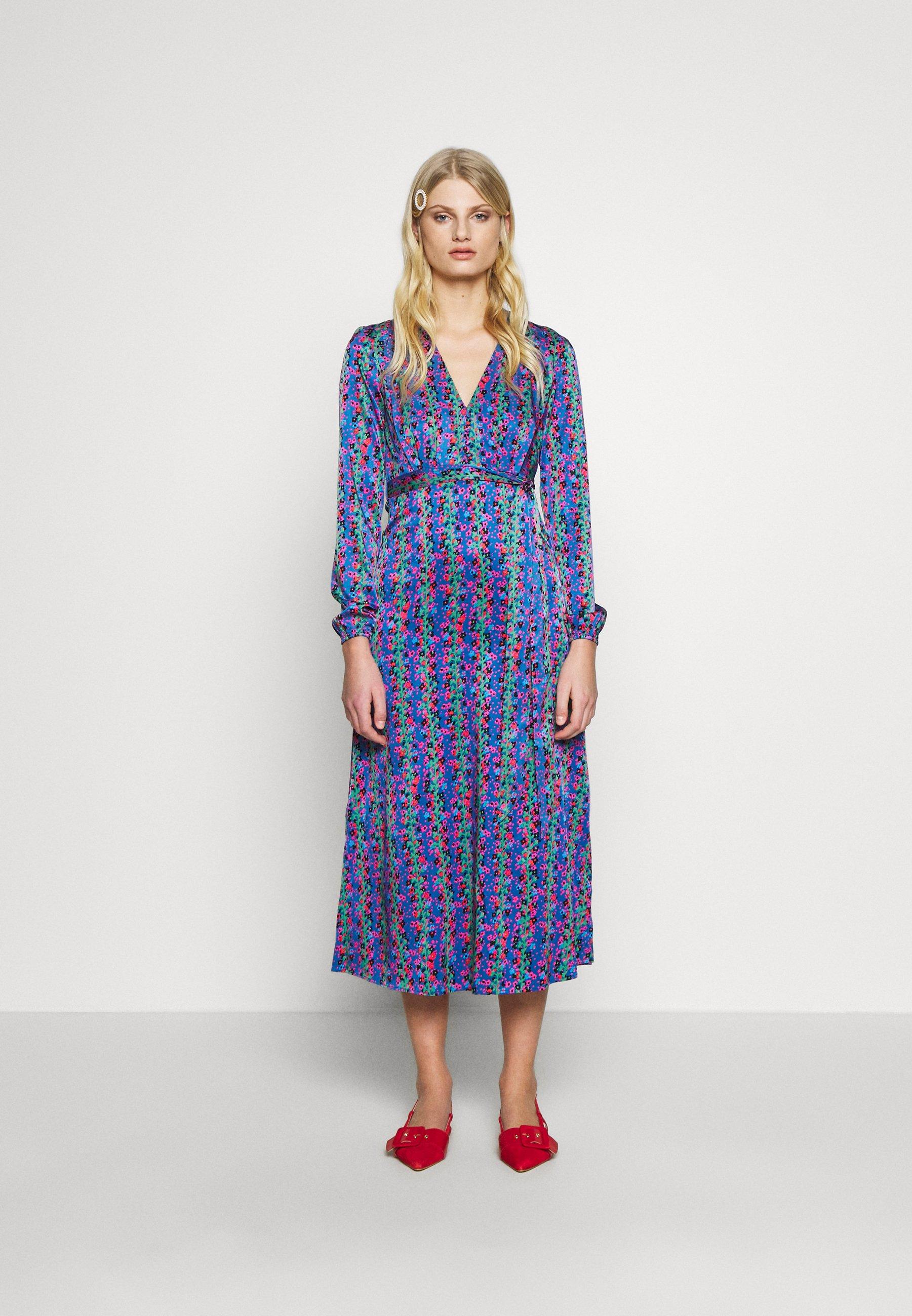 Fabienne Chapot ISABEL LOU DRESS - Skjortekjole - blue/pink/green