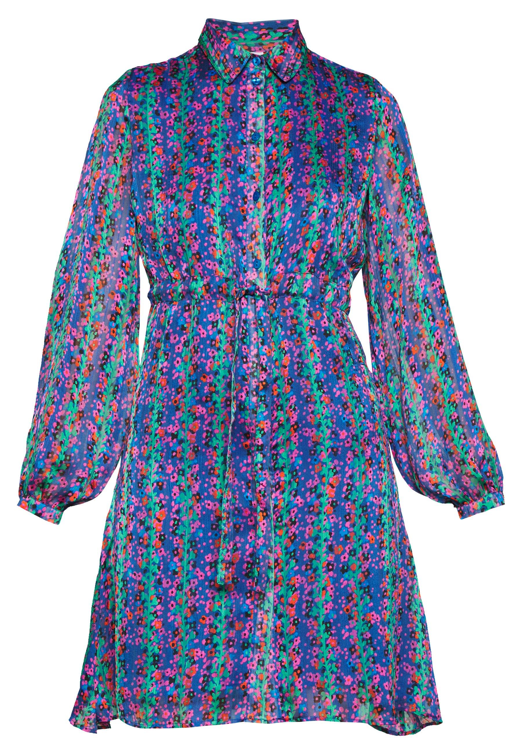 Fabienne Chapot FRIEDA SHORT DRESS - Sukienka letnia - blue/pink/green