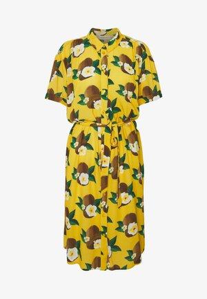 BOYFRIEND DRESS - Day dress - coco yellow/cream white