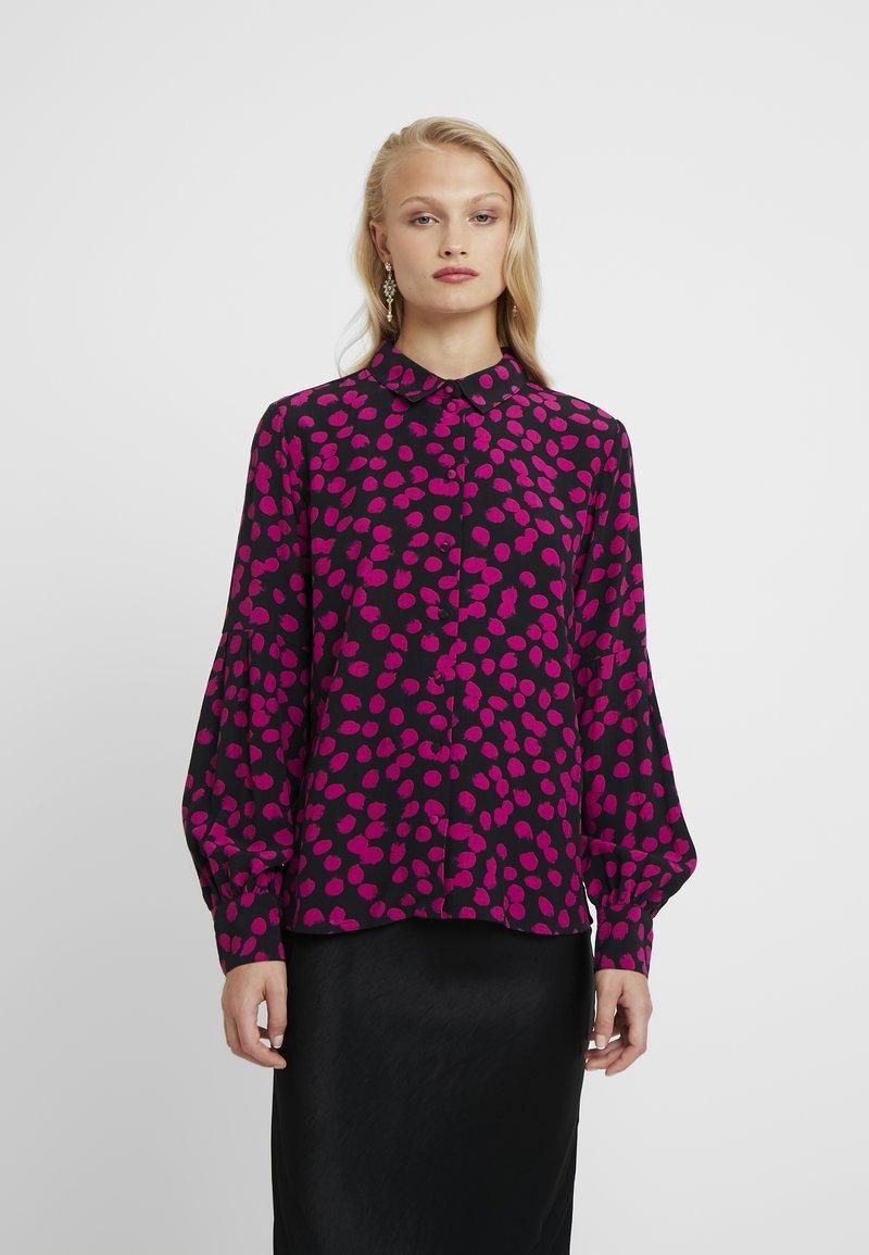 Fabienne Chapot - DONNA BLOUSE - Blouse - black/pink