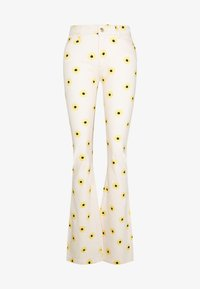 Fabienne Chapot - EVA FLARE TROUSERS - Bootcut jeans - white/yellow - 5