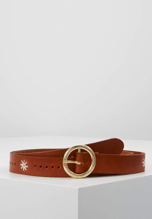 SUNFLOWER BELT - Vyö - cognac