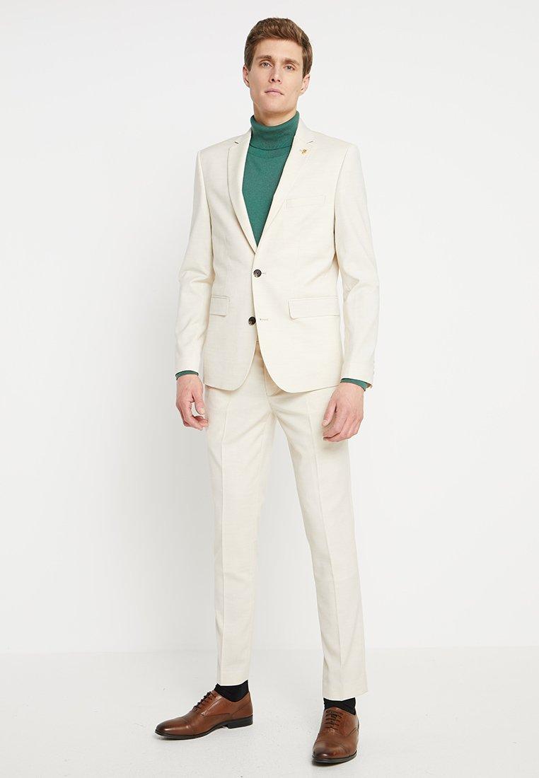 Farah Tailoring - HENDERSON SLUB NOTCH SKINNY FIT - Garnitur - pebble