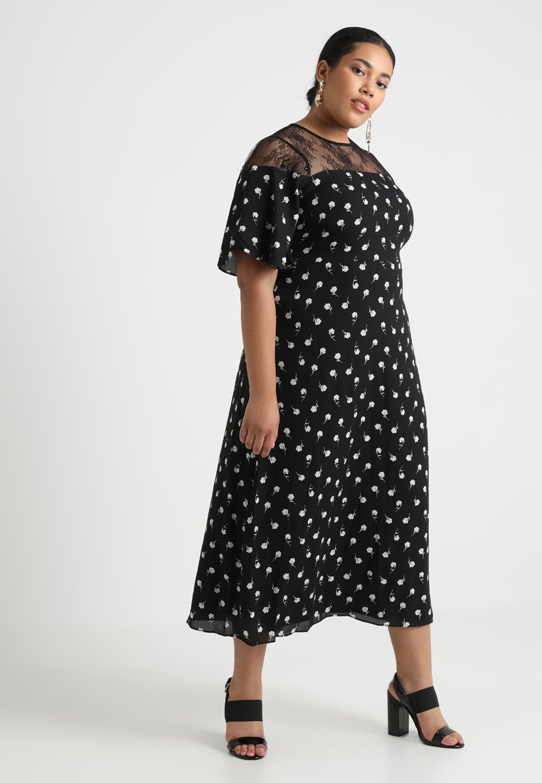 Fashion Union Plus - EXCLUSIVE AIRIES - Maxi dress - black/white