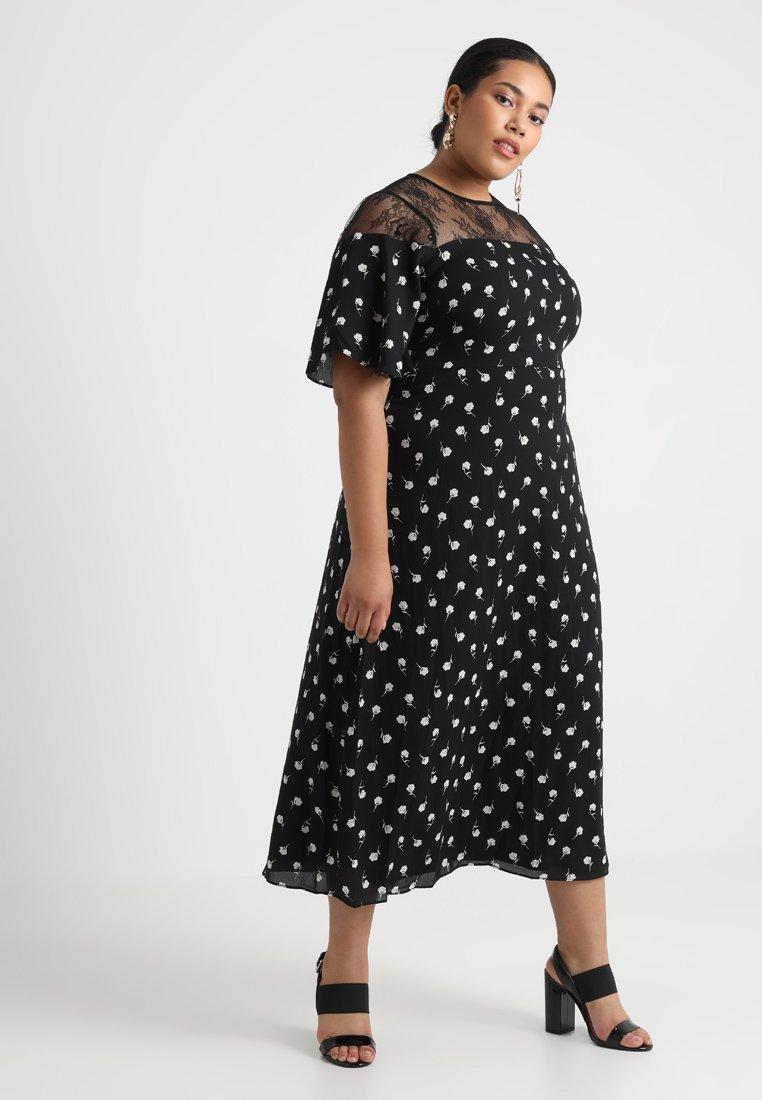 Fashion Union Plus - EXCLUSIVE AIRIES - Maxikjoler - black/white