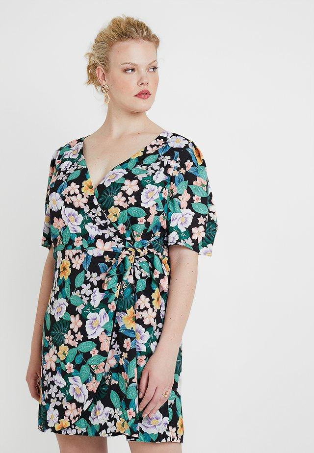 WRAP DRESS IN FLORAL PRINT - Denní šaty - multicoloured