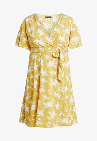 Fashion Union Plus - WRAP DRESS IN FLORAL PRINT - Day dress - summer shadow - 4