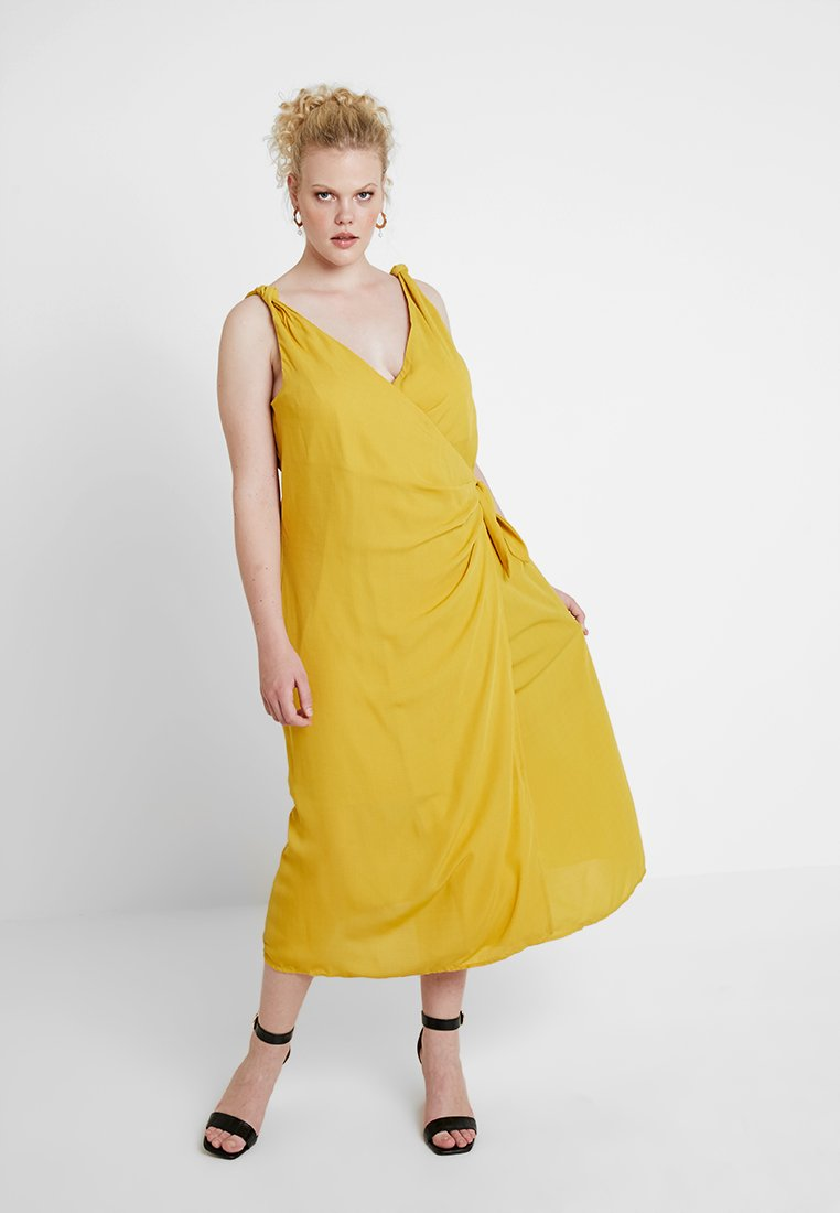 Fashion Union Plus - KNOT DETAIL CAMI DRESS - Maxi šaty - yellow