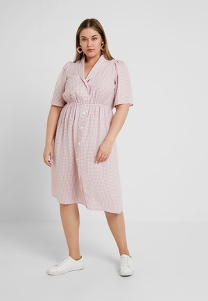 TAYTIN COLLARED DRESS WITH BUTTONS AT FRONT - Shirt dress - pink