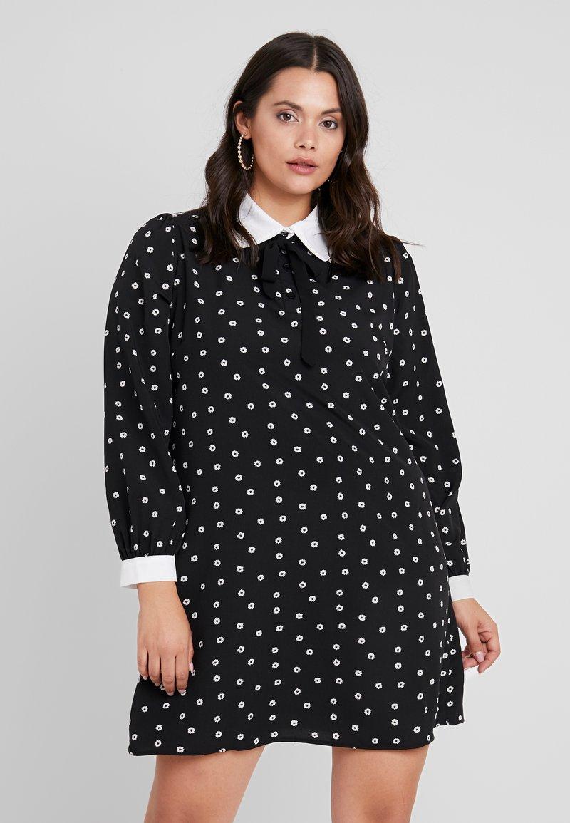 Fashion Union Plus - DRESS - Košilové šaty - black