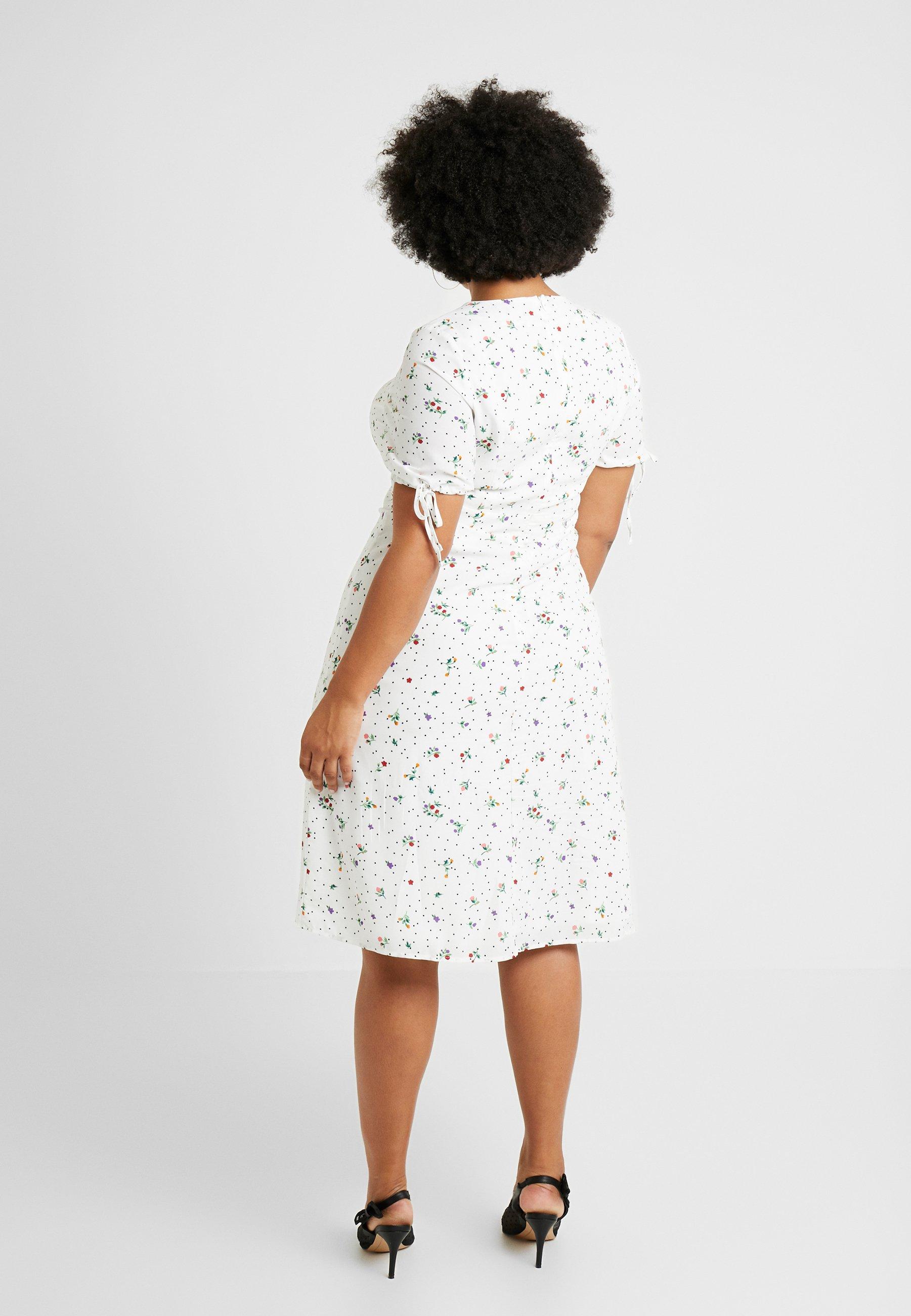 TiesRobe Sleeve Union With Midi White Fashion D'été Plus Dress BWCreQxdo