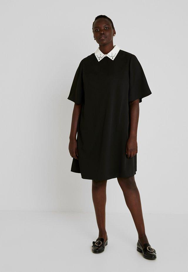 DRESS WITH COLLARS - Freizeitkleid - black