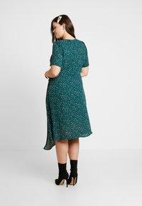 Fashion Union Plus - JUICE WRAP FRONT DRESS - Day dress - green galaxy - 2