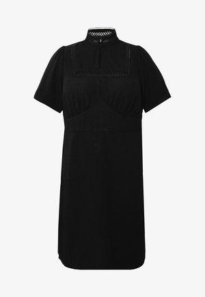 MIDI DRESS WITH LACE INSERT  - Day dress - black
