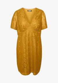 Fashion Union Plus - LUCA DRESS - Sukienka koktajlowa - yellow - 5