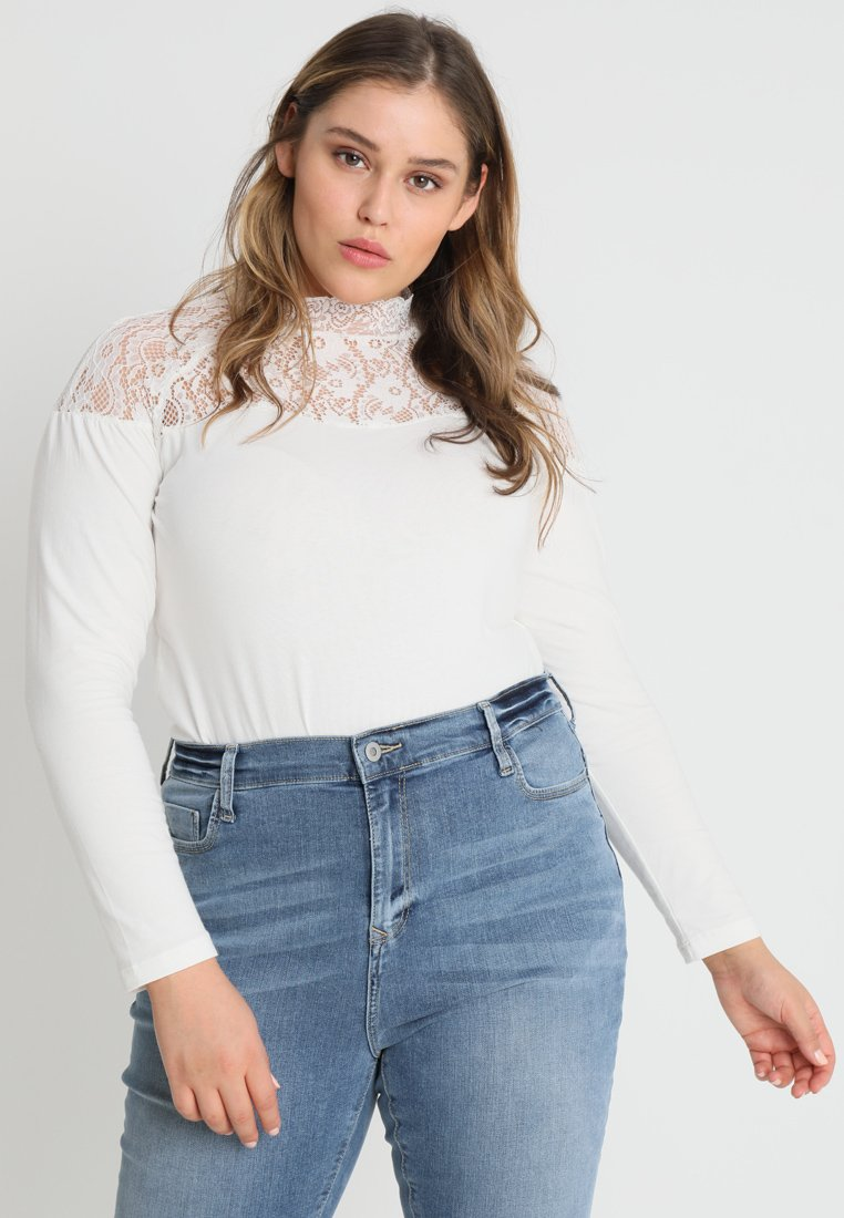 Fashion Union Plus - EXCLUSIVE DINA - Long sleeved top - ivory