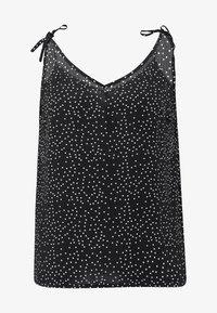 Fashion Union Plus - CAMI  WITH TIE STRAPS - Top - black - 4