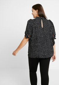 Fashion Union Plus - HIGH NECK BLOUSE WITH SLEEVE TIES - Bluser - black - 2